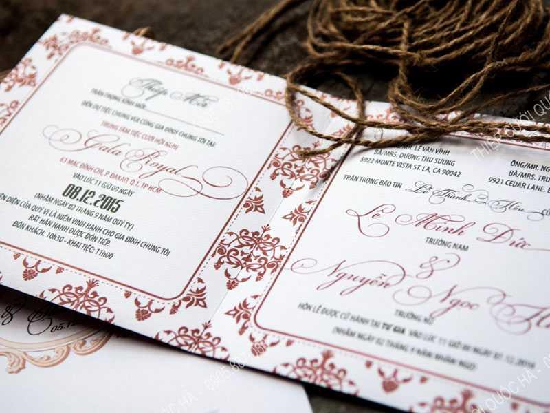 Hướng dẫn chọn màu ấn tượng cho thiệp cưới